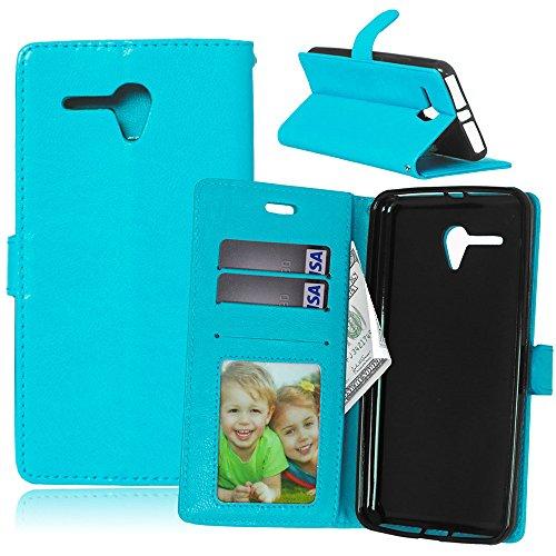 Jepson Alcatel one touch pop 3 5.5(5.5 pouces) Coque PU Cuir Flip Housse Étui Cover Case Wallet Stand avec Carte de Crédit Fentes pour