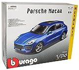 alles-meine.de GmbH Porsche Macan Turbo Blau Ab 2014 Bausatz Kit 1/24 Bburago Modell Auto mit individiuellem Wunschkennzeichen