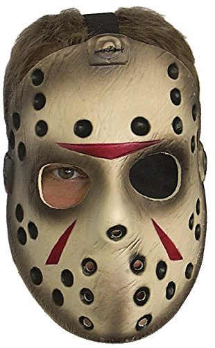 13. Hockey Maske Jason Vorhees - aus PVC (Jason Aus Friday The 13th Kostüm)