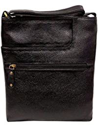 Stylish Genuine Leather Small Messenger Office Bag Cash Side Sling Bag By Widnes