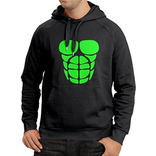 (Kapuzenpullover Für Ihr Muskelwachstum - lustige Trainingshemden (XXX-Large Schwarz Grün))