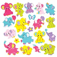 Baker Ross Elephant Foam Stickers for Children to Decorate & Embellish Summer Collage Cards and Crafts (Pack of 120)