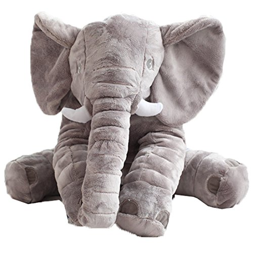 Misslight elefante Juguete cojín para bebé diseño de elefante Juguetes blandos gris (S)