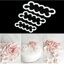 yookay Fleurs en coupe, 3DIY gâteau rose Ever Cutter Sugarcraft Moule pour décoration gâteau