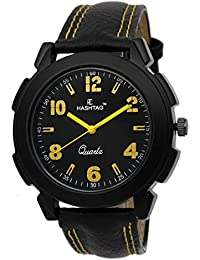 HASHTAG Analogue Quartz Stylish Black Watch for Men - Hashtag-htc112acr-mbk-by