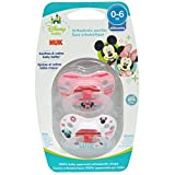 Disney Baby, Minnie Mouse KFO Pacifier, 0-6 Monate, 2 Schnuller - NUK