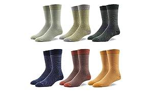 RioRiva chaussettes classique tendance pour homme formel en coton peigné à motifs géométriques colorés grande taille différents motifs et coloris disponible