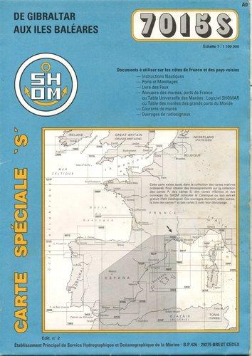 Carte marine : De Gibraltar aux Îles Baléares Carte – 1 janvier 1998 Cartes Epshom B00008OK8V Cartes marines Aquitaine