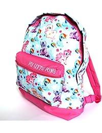 Producto oficial de My Little Pony ropa de descanso para niñas ortopédica para dolores de mochila de para el hombro de mochilas escolares con de flores saliendo de un la vuelta al cole