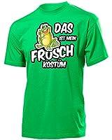 Karnevalskostüm - Faschingskostüm - Halloween - Das ist mein Frosch Kostüm T-Shirt Herren S-XXL - Deluxe