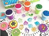Stempel für Kinder, mit Blumenmuster, 10 Stück