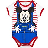 Disney Baby Micky Maus Body Kurzarm (12 Monate, Rot gestreift)