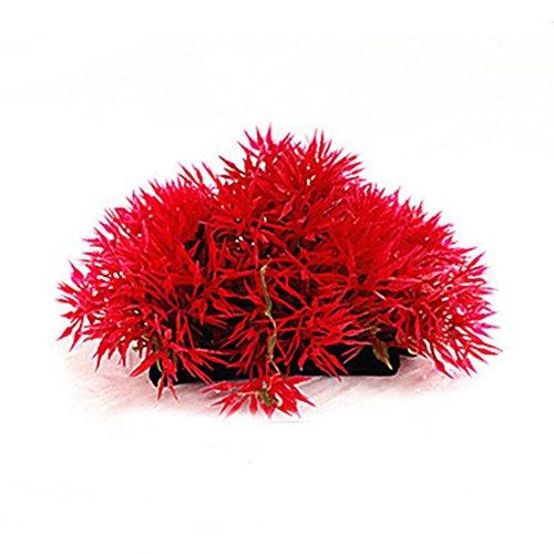 decorazioni acquario pianta marina artificiale plastica , red