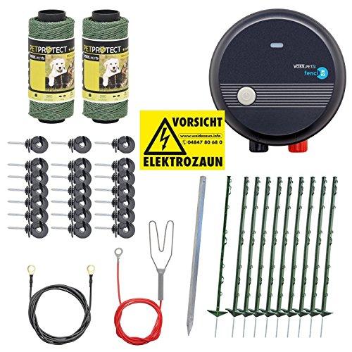 VOSS.PET Kit Valla eléctrica para Animales pequeños y medianos, Set Completo 230...