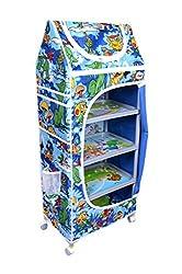 Ehomekart Blue 5 Shelves Almirah for Kids