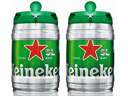 Heineken Cerveza Barril - Paquete de 2 x 5L