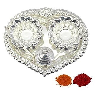 Amba Handicraft Indische Traditionelle Deko Pooja Thali, schöne Lakshmi Festival ethnische Geschenk für Sie/Kankavati / Diwali/indisches Kunsthandwerk/Zuhause / Tempel/Büro / Hochzeit Geschenk GS12