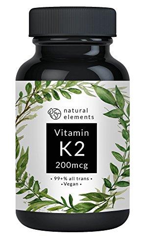 Vitamin K2 MK7 - Laborgeprüft - 365 vegane Kapseln à 200 µg - 99,7+{f4e002a0d8984c611e8d954ce194f0882683a5f6f3716a6cc3dbb32ff33847ce} All Trans - Mikroverkapselt - Jahrespackung - Menaquinon 7 mit Leinsamenmehl – Hochdosiert und hergestellt in Deutschland