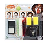 Generique - Kit Maquillaje Cremallera Adulto Halloween