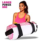 Ladies Power Sandbag Weight Lifting Pink Boxing Training Handles Crossfit Exercise Running Workout MMA Fitness 15 kg Sand Bag