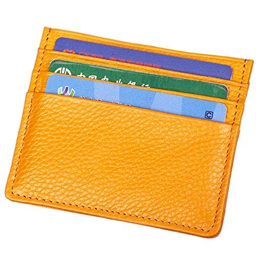 Esta tarjeta de Super slim Sleeve está hecho de piel genuino, duradero y elegante. Cómodo de usar para llevar sus tarjetas más utilizadas y algunas facturas.