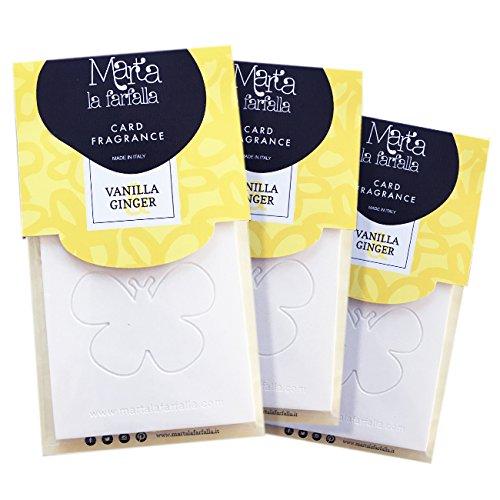 tessere profumate appendibili per armadi e cassetti kit da 3pz profumazione vaniglia e zenzero Marta La Farf