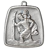 Heiliger St. Christophorus Anhänger 28 x 26 mm Glücksbringer Talisman