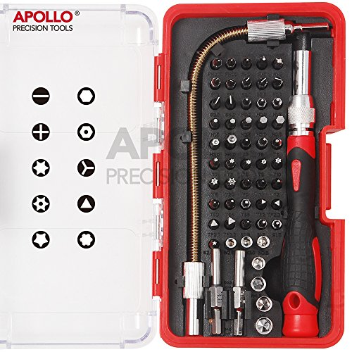 Apollo 58 Piece Electronics Bit Set (Repair of Mobile phones, Iphone, Macbook Air & Pro, PDA, PC, Laptops, LCD screens, Tablets, Watches, Nintendo, Game Boy, PS2, xBox and more…)