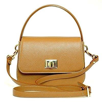 Mini sac à main Bandouliere En Cuir Saffiano Femme Couleur Camel