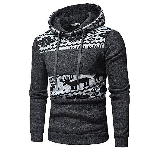 Celucke Herren Hoodie Kapuzenpullover Langarm Winter Sweatshirt Weihnachtspullover -