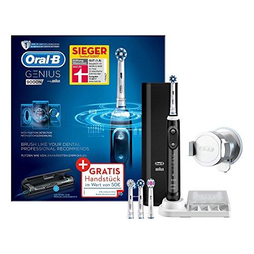 Oral-B Genius 9000 Black Elektrische Zahnbürste (Oral-Bs beste elektrische Zahnbürste Schwarz, mit Positionserkennung, Lithium-Ionen-Akku, Bluetooth, Timer und Lade-Reise-Etui, powered by Braun)