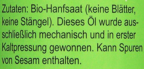 Seitenbacher Bio Hanf Öl rein nativ, kaltgepresst/1 Pressung, 1er Pack (1 x 250 g) - 3