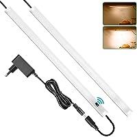 SOAIY 2x40cm Réglette LED pour Cuisine ou Atelier avec Capteur de Main Luminosité Réglable Fonction de Mémoire Facile à…