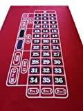 RED ROULETTE / FELT / LAYOUT / BAIZE