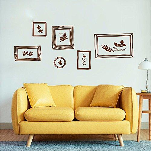 XJKLFJSIU Handbemalte Bilderrahmen Aufkleber Wand Wohnzimmer Schlafzimmer Esszimmer Abstrakte Wandkunst Aufkleber, C1 (Bilderrahmen Wachstum Chart)