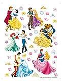 1art1 75276 Disney Prinzessin - Tanz Mit Den Prinzen Wand-Tattoo Aufkleber Poster-Sticker 65 x 42 cm