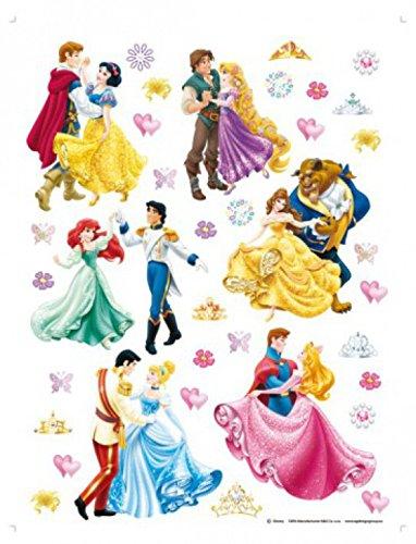 (1art1 75276 Disney Prinzessin - Tanz Mit Den Prinzen Wand-Tattoo Aufkleber Poster-Sticker 65 x 42 cm)