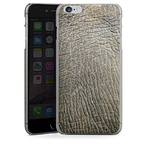 Apple iPhone X Silikon Hülle Case Schutzhülle Elefantenhaut Look Tierhaut Muster Struktur Hard Case anthrazit-klar
