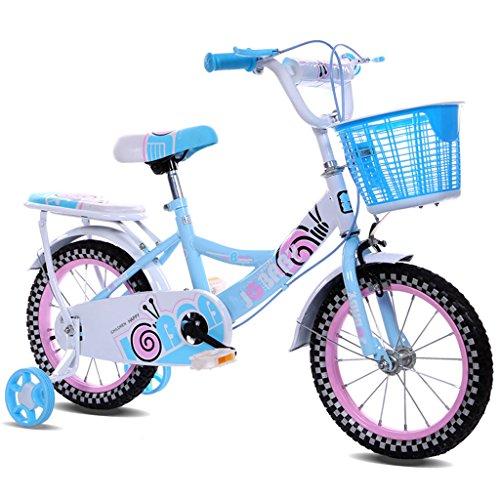d 14.12.16 Zoll Mädchen Babytrage 2-4-3-5/4-7 Jahre alt Fahrradrahmen aus Kohlenstoffstahl, Rosa/Blau/Lila Kinderfahrrad (Color : 12 inch Blue) ()