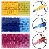 Gebildet® 180pcs T-Tap elektrische Steckverbinder Sortiment Schnelle Drahtspleißgewindebohrer Isolierte Schnelltrennklemmen (männlich)