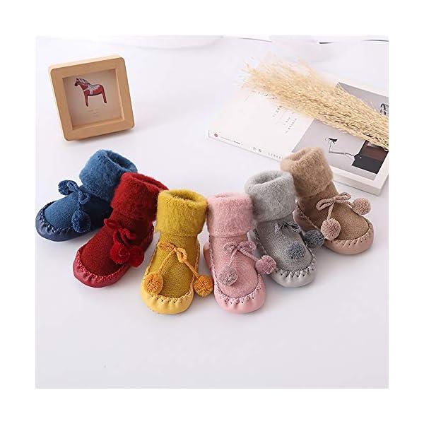 Calcetines Antideslizante Bebe Invierno K-youth Calcetines para Bebé Niñas Niños 0-24 Meses Espesar Zapatos Calcetines… 4