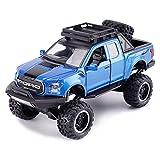 Modèle de Voiture Ford Raptor F150 Version modifiée 1:32 Pickup modèle de Voiture Jouet Simulation Ornements (Couleur : Bleu)