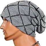 Holeider Slouch Long Beanie Mütze | Strickmütze Wintermütze Herren Herbst Winter | Leicht und Weich | Warm Ausgebeult Skimütze Mode Hüte