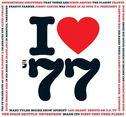 1977 Birthday Gift - 1977 I Heart CD and Greeting Card