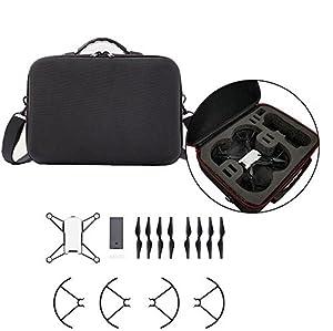 Rantow Tello Sac à bandoulière valise rigide - Stockage pour télécommande/Drone/Batterie - RC Mini Drone Étui de transport étanche Etuis Valise de transport pour DJI Tello Helicopter