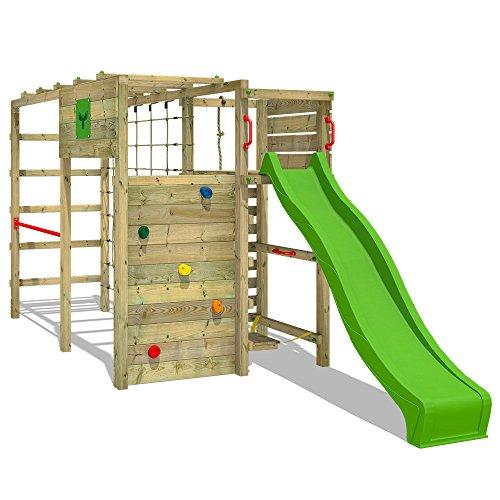 FATMOOSE-Torre-de-escalada-FitFrame-Fresh-XXL-Parque-infantil-para-el-jardn-con-tabla-de-equilibrio-diferentes-diseos-de-escaleras-para-trepar-red-para-trepar-grande-y-tobogn