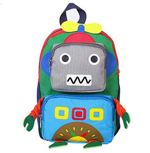 Baby niedlicher Rucksack, Jungen-Mädchen scherzt Roboter-Rucksack-Schultasche-Rucksack-Reise-Rucksack