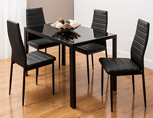glass-dining-table-set-with-4-faux-leather-ribbed-chairs-black-white-by-by-smartdesignfurnishings-bl