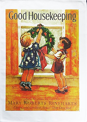 good-housekeeping-at-christmas-retro-style-magazine-cover-large-cotton-tea-towel-by-half-a-donkey