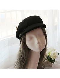 ChenYongPing Boinas para Mujer Lady Han Versión Elegante Azafata Sombrero  Otoño Invierno Pajarita Sombrero Mujeres Beret e9386133c93